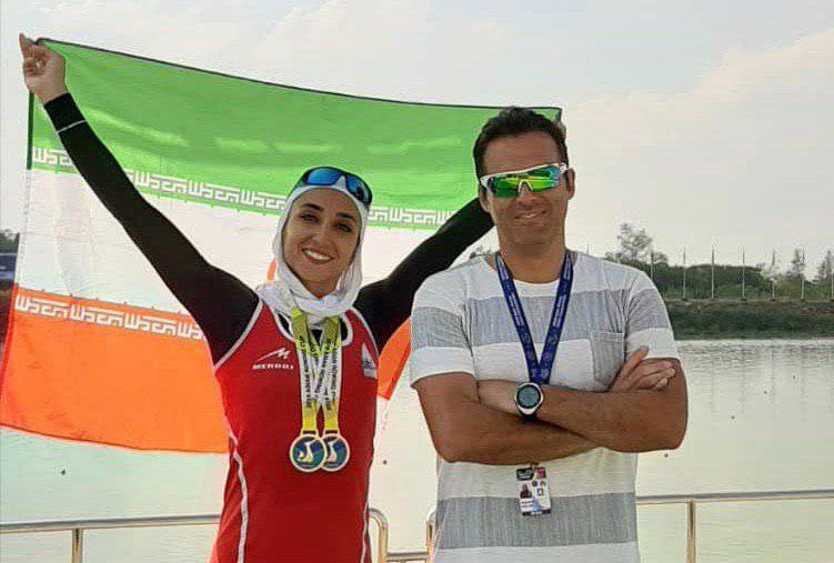 نازنین ملایی دومین مدال طلا در رویینگ کاپ آسیا را صید کرد