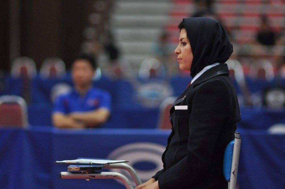 نصیبه دلیر هروی در تنیس روی میز انتخابی المپیک قضاوت میکند
