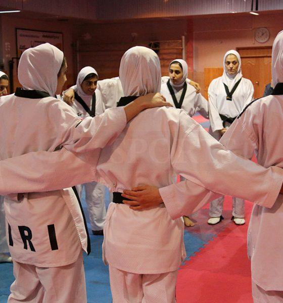 تمرین تیم ملی تکواندوی زنان 560x600 انتخابی تیم ملی تکواندو بانوان   ۱۱ تکواندوکار در اردوی نهایی تیم ملی باقی ماندند