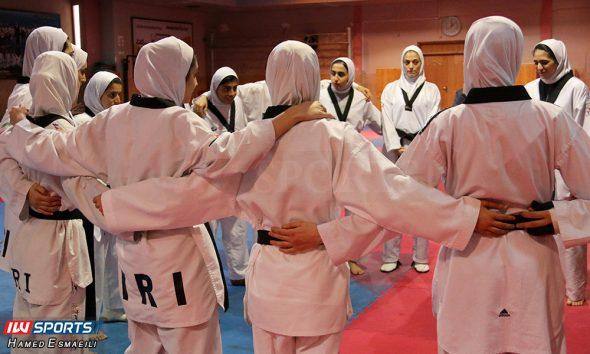 تمرین تیم ملی تکواندوی زنان 590x354 انتخابی تیم ملی تکواندو بانوان   ۱۱ تکواندوکار در اردوی نهایی تیم ملی باقی ماندند