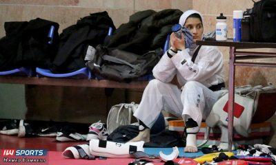 تمرین تیم ملی تکواندو فرشته خزایی 400x240 تیمهای ملی در تنگنا؛ فشار روانی قرنطینه