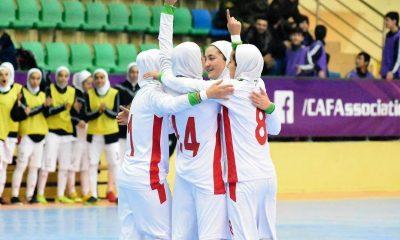تیم ملی فوتسال زیر 20 سال بانوان ایران در تورنمنت کافا 400x240 درباره پیروزیهای یک طرفه فوتسال در کافا | مصائب اقتدار مطلق ؛ آنها رقیب خوبی نیستند