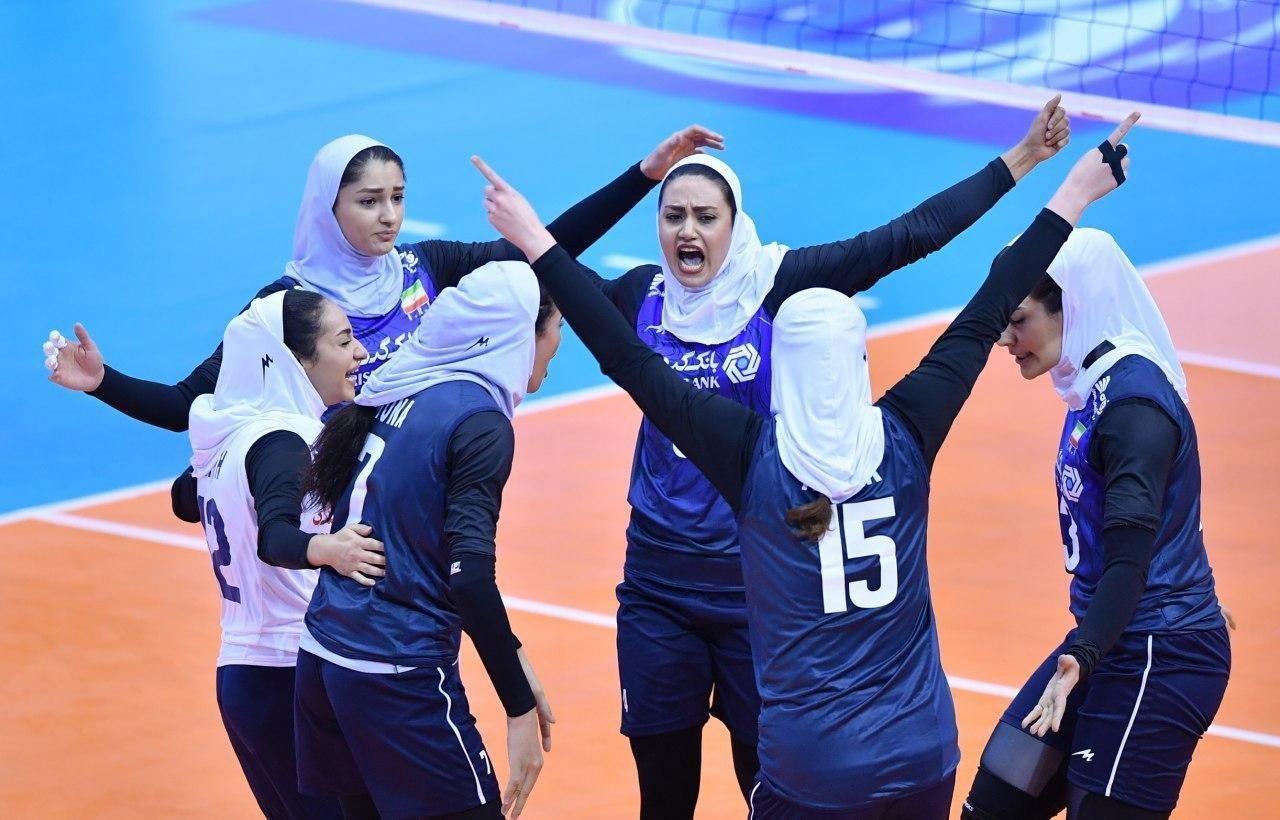تیم ملی والیبال بانوان تصاویر دیدار تیمهای والیبال بانوان ایران و قزاقستان