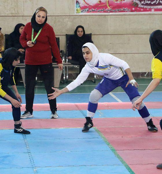 مرحله دوم لیگ برتر کبدی بانوان در قزوین 3 560x600 تصاویری از دور دوم لیگ برتر کبدی بانوان در قزوین
