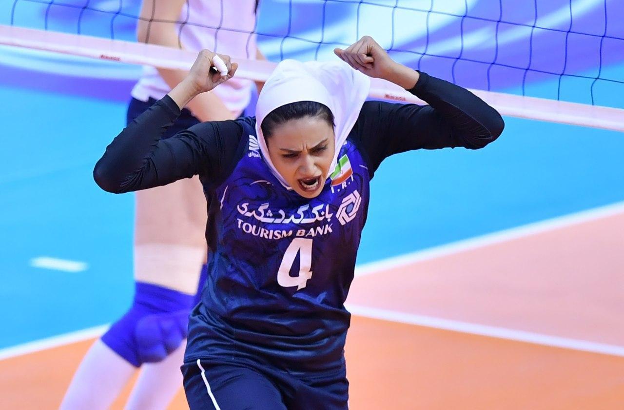 والیبال بانوان ایران و قزاقستان در مقدماتی المپیک 6 تصاویر دیدار تیمهای والیبال بانوان ایران و قزاقستان