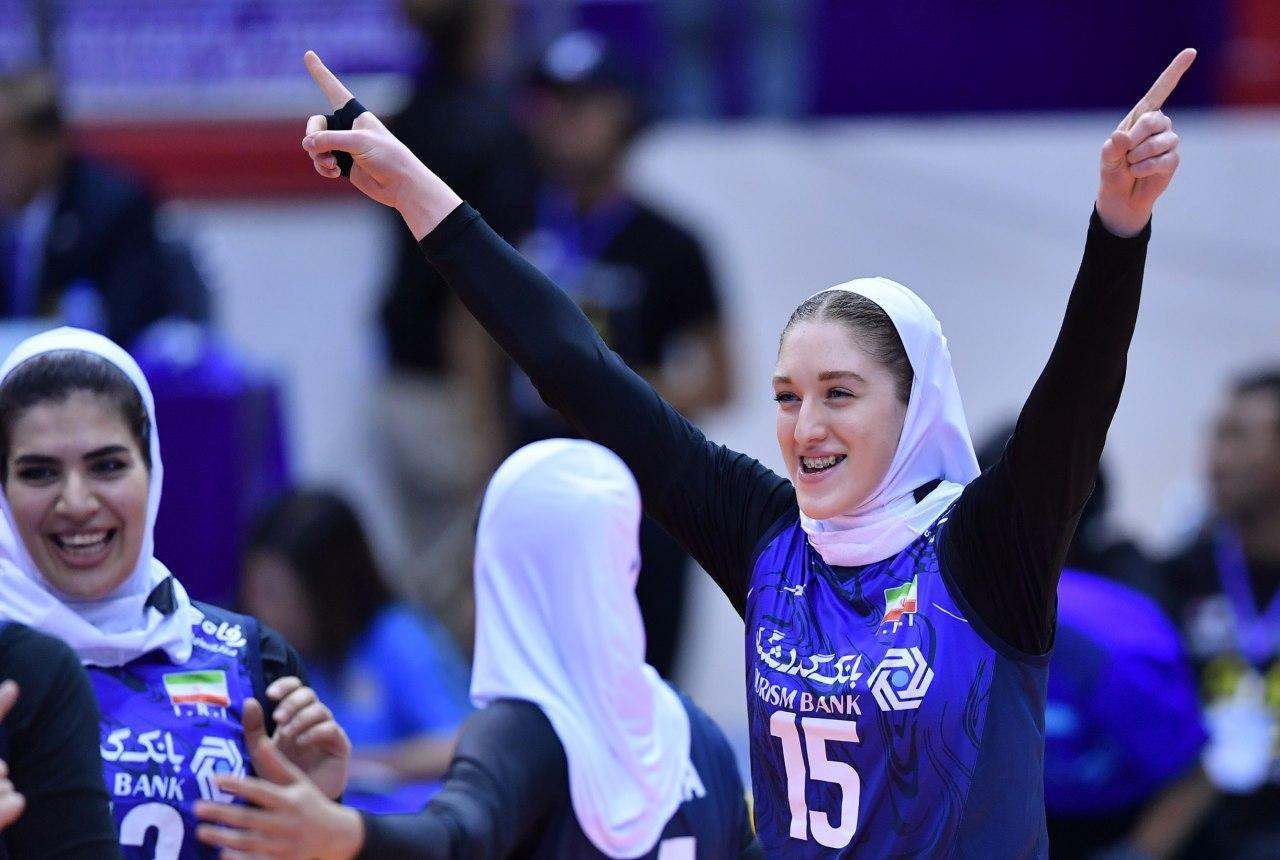 والیبال بانوان ایران و قزاقستان در مقدماتی المپیک 9 تصاویر دیدار تیمهای والیبال بانوان ایران و قزاقستان