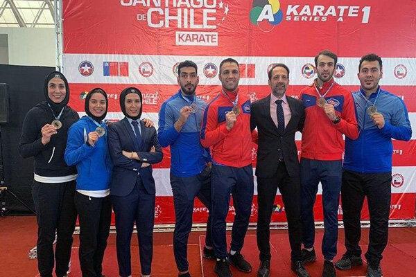 3348979 مدال طلای حمیده عباسعلی و رزیتا علیپور در لیگ کاراته وان شیلی