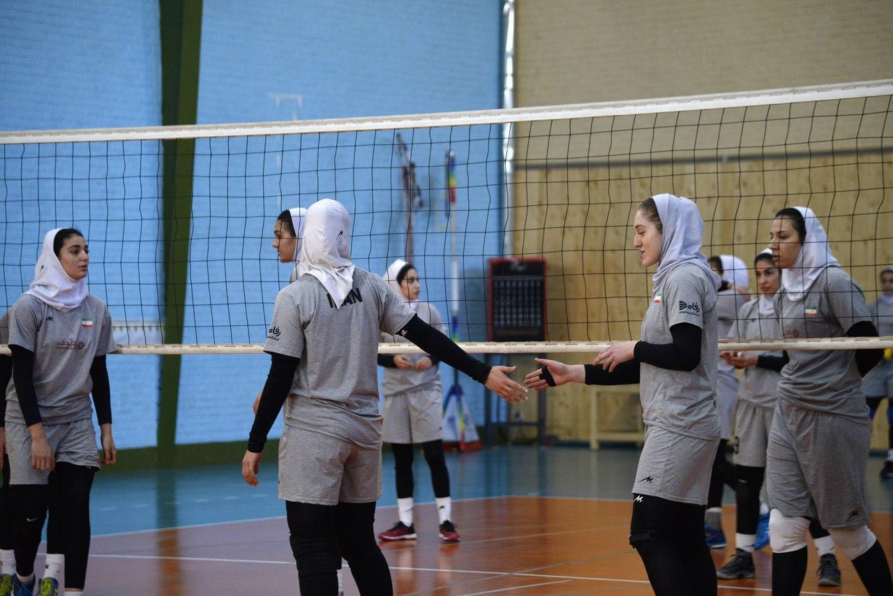 تمرین تیم ملی والیبال بانوان