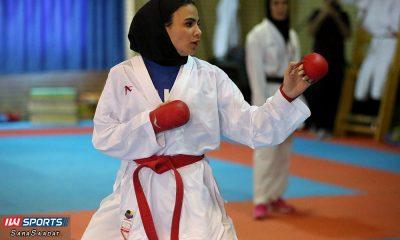 تمرین تیم ملی کاراته بانوان سارا بهمنیار 400x240 سارا بهمنیار سهمیه المپیک توکیو را کسب کرد
