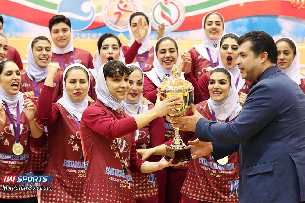 جشن قهرمانی تیم اشتاد سازه مشهد در لیگ برتر هندبال