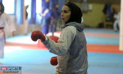 رزیتا علیپور در تمرین تیم ملی کاراته زنان 400x240 رزیتا علیپور مدال برنز کاراته وان دوبی را بر گردن آویخت