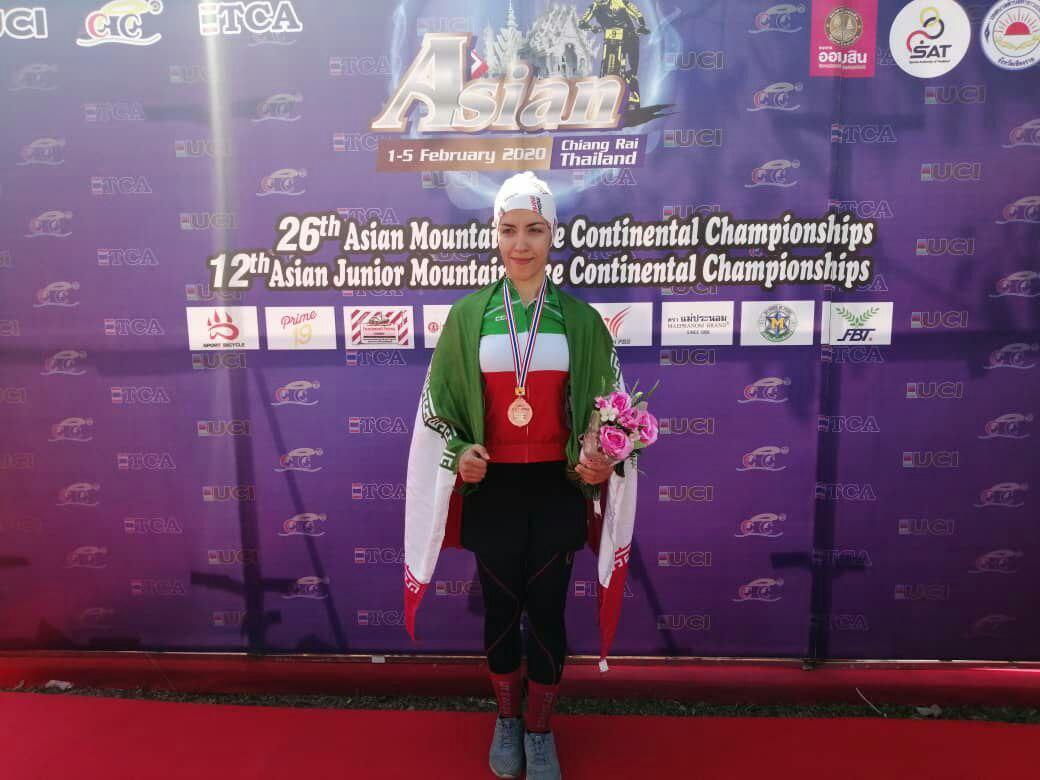 فرانک پرتو آذر صاحب مدال برنز دوچرخه سواری کوهستان آسیا شد