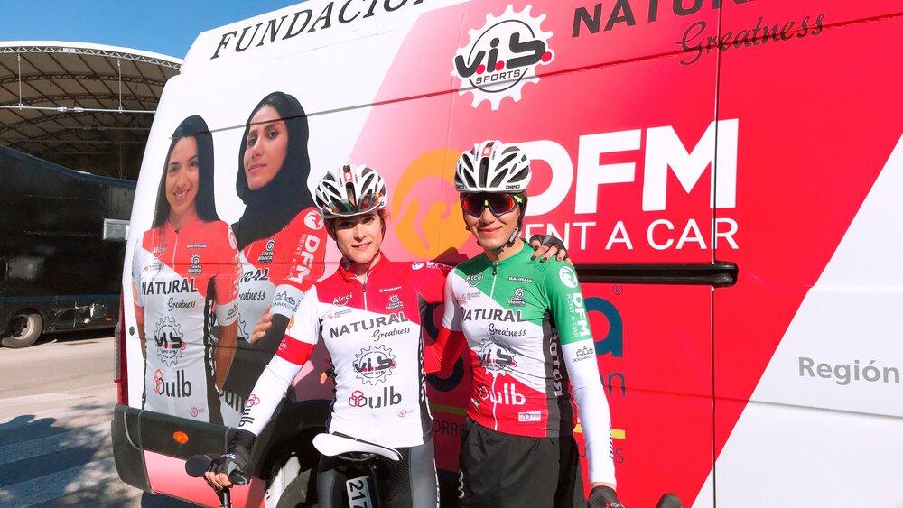 قرنطینه 2 هفته ای سمیه یزدانی لژیونر دوچرخه سواری در اسپانیا