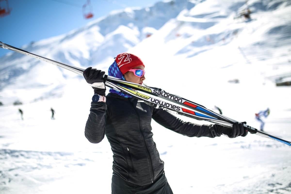 سمانه بیرامی باهر و چهارمین حضور جهانی | چالش اسکی باز در مرز آلمان و سوییس