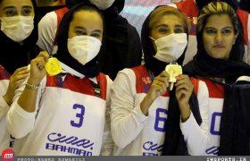 جشن قهرمانی تیم گروه بهمن در لیگ برتر بسکتبال بانوان