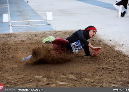 رکوردشکنی ریحانه مبینی و فائزه آشورپور در دوومیدانی جام امام رضا