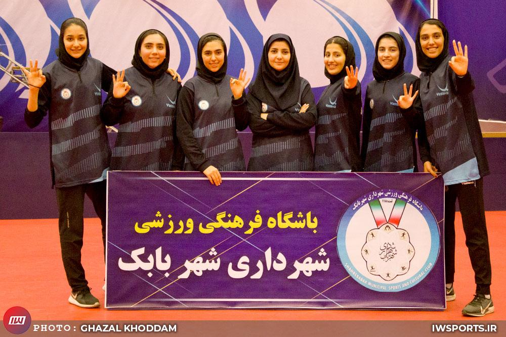 شهرداری شهر بابک قهرمان لیگ تنیس روی میز زنان شد