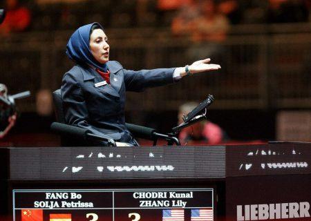 سیمین رضایی در انتخابی تنیس روی میز المپیک قضاوت میکند