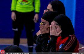 تصاویر دیدار رهیاب و پارس آرای شیراز در لیگ برتر فوتسال بانوان