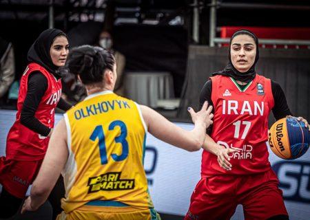 ویدئو   ایران و اوکراین   بسکتبال سه نفره زنان انتخابی المپیک