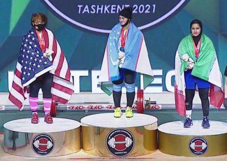 هتریک در کسب مدال برنز دسته ۸۷کیلوگرم | تاریخسازی یکتا جمالی در وزنهبرداری قهرمانی جوانان