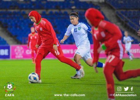 ویدئو فوتبال زنان   ایران ۲ ازبکستان ۲   مسابقات جوانان کافا