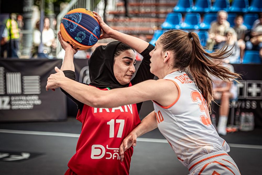 شکست دختران بسکتبال سه نفره ایران برابر هلند در آخرین گام
