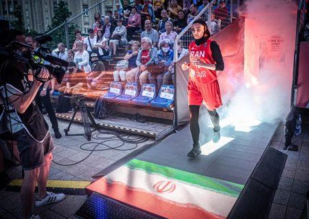 تصاویر دیدار بسکتبال سه نفره زنان ایران برابر چین تایپه و ایتالیا