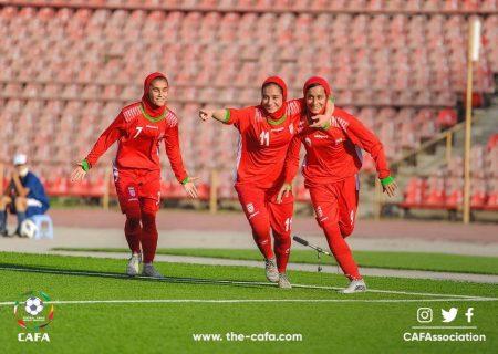 پیروزی قاطع دختران فوتبالیست ایران برابر قرقیزستان