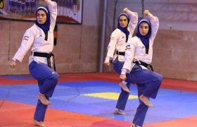 تصاویر تمرین تیم ملی پومسه زنان پیش از اعزام به لبنان