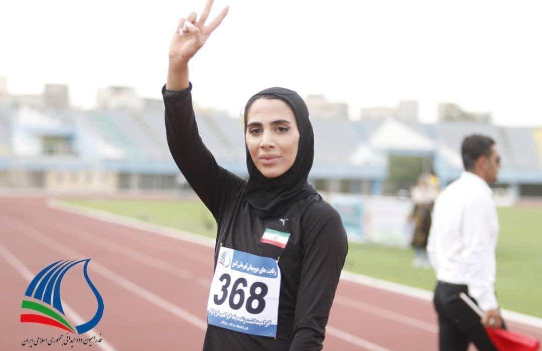 مریم محبی صاحب مدال برنز مسابقات دوومیدانی ترکیه شد